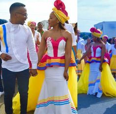 Modern TSWANA SHWEAHWE WEDDING in 2020 have become more fascinating and we have gathered a list of some of the best ones you would love Pedi Traditional Attire, Sepedi Traditional Dresses, South African Traditional Dresses, Traditional Wedding Attire, African Print Dresses, African Fashion Dresses, African Dress, African Clothes, African Wedding Attire
