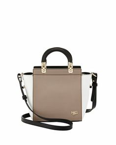 MINIS! Givenchy HDG Mini Top-Handle Crossbody Bag, Beige