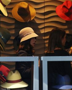 A royal fedora: Mary opted for a soft beige hat with a light brown ribbon