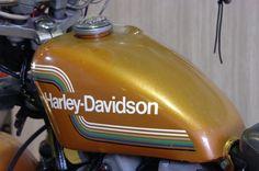 Gold 1975 AMF Harley-Davidson Sportster tank
