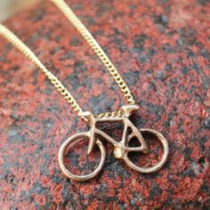 Bronze Fixed Bike Necklace