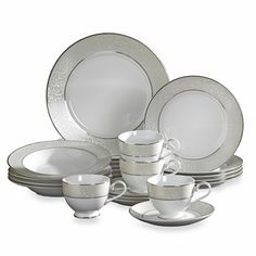 MIKASA Parchment 20-Piece Fine China Dinnerware Set $89 BEST PRICE GUARANTEE FREE WORLD SHIPPING (LOCAL ORDER PICK UP IS ALSO AVAILABLE & GET 20% OFF)