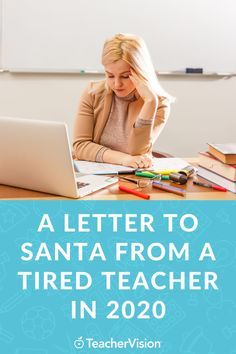 As the year winds down, what are teachers asking Santa or the sages for in 2021? Advisory Board member, Mikaela, shares her cockeyed optimism in her own letter to Santa, where she asks for some personal effects to make her a more effective teacher, but more importantly, implores him for peace, prosperity, and health and well-being for all in 2021. #inspiringteacher #teacherlife Massage Packages, Morning Announcements, Teacher Tired, Board Member, December Holidays, Keep Swimming, Santa Letter, The Elf, Dear Santa