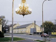 Every street needs a chandelier street light.