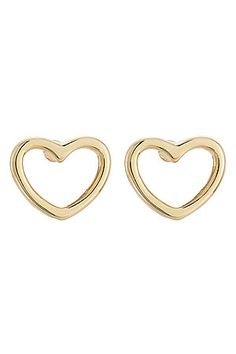 Feminine and pretty, these heart-shaped stud earrings from Marc by Marc Jacobs are a simple but effective way of keeping your look light and fun #Stylebop