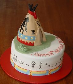 Let Them Eat Cake Native Indian Teepee cakepins.com