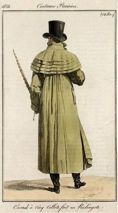 Men's ulster (caped overcoat), 1812.