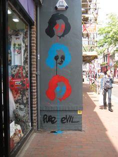Pure Evil in Brighton. #pureevil http://www.widewalls.ch/artist/pure-evil/