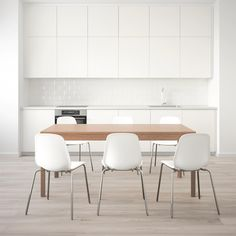 IKEA offers comfortable and durable dining room sets in a variety of styles, finishes, and seating arrangements that can match any dining room. Chaise Ikea, Table Ikea, Under The Table, Cafe Chairs, Room Chairs, Office Chairs, Smart Design, Dining Room Sets, White Beige