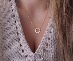 delicate gold necklace karma