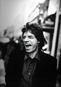 Jagger by Photographer Peter Lindbergh -- Portrait - Candid - Editorial - Black and White - Photography - Pose Idea