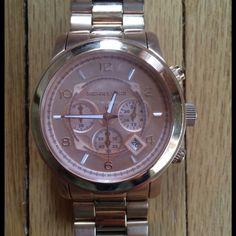 Selling this Michael Kors Oversized Watch on Poshmark! My username is: wefrni. #shopmycloset #poshmark #fashion #shopping #style #forsale #Michael Kors #Accessories