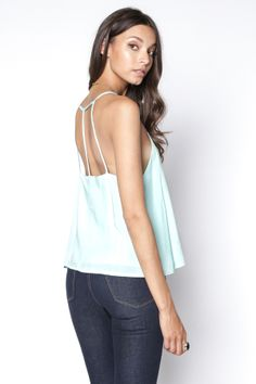 90s Lullaby - NIRVANA STRAPPY MINT CAMI, $13.99 (http://www.90slullaby.com/shop/essentials/nirvana-strappy-mint-cami/)
