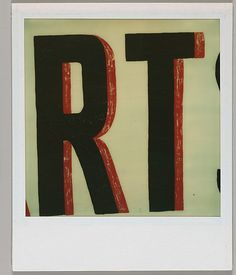 "Walker EVANS :: Detail of Sign Lettering: ""RT"", August 1974"