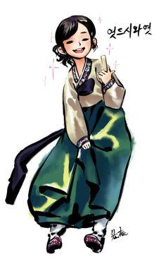 한복하니 생각나는 민속촌 엿걸 모에화 | Daum 루리웹 Character Concept, Character Art, Character Design, Character Illustration, Illustration Art, Wonder Boys, Female Armor, Korean Art, Illustrations And Posters