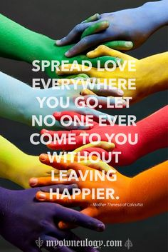 Let's spread the love (or at least make an effort to).