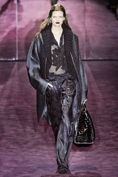 Gucci Fall 2012 RTW  More wide pants AND combined with oversized cardigan... Total trend!