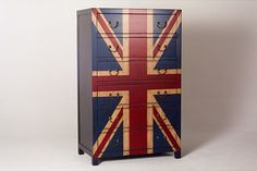 Union Jack Flag 6-Drawer Chest - eclectic - dressers chests and bedroom armoires - Overstock