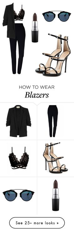 """Untitled #359"" by simina650 on Polyvore featuring Plakinger, River Island, Giuseppe Zanotti, MAC Cosmetics and Christian Dior"
