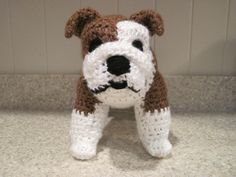 Here's your dog Crocheted Bulldog PDF Pattern