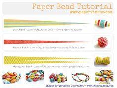 Paper Bead Jewelry Patterns | paper bead tutorial
