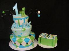 First Birthday Dino Cake By KatiesKakes86 on CakeCentral.com
