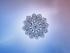 """Eclipse"" - a macro photograph of a snowflake, by Alexey Kljatov"