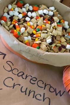 Scarecrow Crunch Trail Mix {Dairy, Gluten & Nut Free}