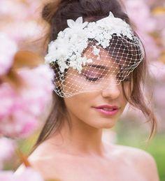 Pretty birdcage veil