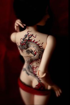 Dragon tattoo BJD
