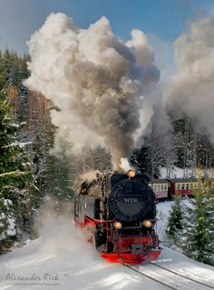 "Winterlands - A steam train in the Harz mountains from one of the last winters.  Feel free to follow me on  <a href=""https://www.facebook.com/pages/Alexander-Riek-Photography/588013561261816"">FACEBOOK</a>  or to visit my  <a href=""http://www.photographichorizons.com"">WEBSITE</a>"