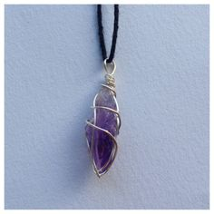 raw crystal necklace tiny raw amethyst crystal necklace mineral jewelry raw stone wire wrap raw stone jewelry handmade by shoplivejuicy on Etsy https://www.etsy.com/listing/210484185/raw-crystal-necklace-tiny-raw-amethyst