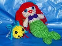 Little Mermaid and Flounder Free Crochet Patterns