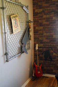 We found this old gate on Craigslist and went to the local skate shop to see if . Skateboard Bedroom, Skateboard Furniture, Kids Bedroom, Bedroom Decor, Wall Decor, New Room, Room Inspiration, Total Cost, Gate