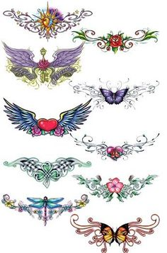 Lower Back Temporary Tattoos