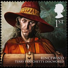 Royal Mail's new stamps from magical realms: Rincewind, first-class stamp.