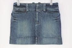 American Eagle Womens Jean Denim Skirt Short Mini Size 0 Dark Wash #AmericanEagleOutfitters #Mini
