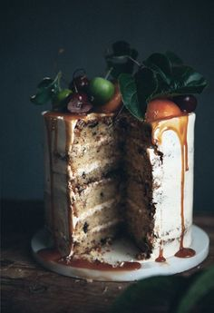 BROWN BUTTER CHOCOLATE CHIP CAKE WITH BOURBON...