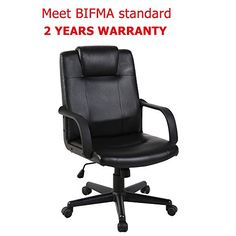 BIFMA standard Black 350 lbs Weight Capacity ergonomic office chair cover stool Bonded Leather Hydraulic swivel Gas lift back support Chair Height Adjustable cushions Health Line Massage Products ®