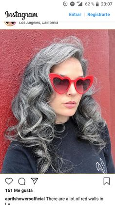 Image may contain: one or more people, sunglasses and closeup Lilac Hair, Pastel Hair, Green Hair, Grey Hair Dye, Long Gray Hair, Dyed Hair, Grey Hair Before And After, Grey Hair Transformation, Silver White Hair