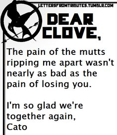 Letter Cato to Clove