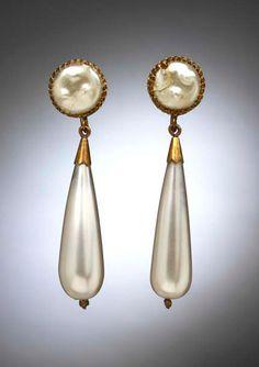 Earrings worn by Vaslav Nijinsky as the Golden Slave in Schéhérazade, designed by Léon Bakst, 1910.