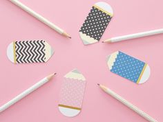 KIDS CRAFT: PAPER BACK-TO-SCHOOL PENCILS