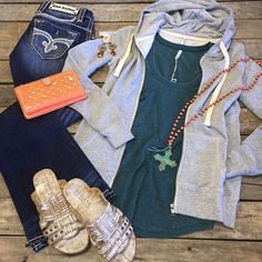 """#NEWARRIVALS #ZSupply #Hoodie $39.99 (XS-L) Z Supply #Pocket #Tank $24.99 (XS-L) #RockRevival #jeans $149.99 (26, 29, 30) #PinkPanache #Necklace $48.99 Pink Panache #earrings $19.99 #Consuela #wallet $135.99 #BedStu #Sandals $109.99 (8, 10, 11) We #ship! Call to order! 903.322.4316 #shopdcs #goshopdcs #shoplocal #love"" Photo taken by @daviscountrystore on Instagram, pinned via the InstaPin iOS App! http://www.instapinapp.com (01/13/2016)"