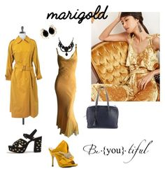 """marigold"" by chain-elle-arts on Polyvore featuring Burberry, Topshop, Myriam Schaefer, N°21, Bounkit and Gucci"