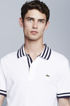 Lacoste S/s Stripe Inset Pique Polo Cut Up Shirts, Cheer Shirts, Cool T Shirts, Polo Rugby Shirt, Polo Tees, Mens Golf Fashion, One Direction Shirts, Polo Shirt Design, Moda Casual