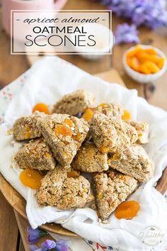 Apricot Almond Oatmeal Scones