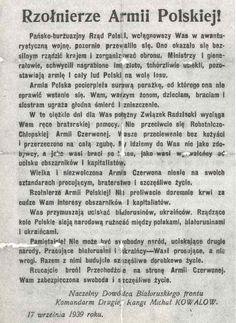 Sowiecka ulotka propagandowa zrzucana 17 września 1939/Źródło:Wikimedia