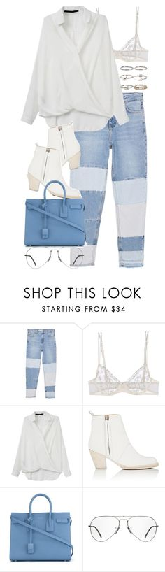 """""""Untitled #3042"""" by elenaday on Polyvore featuring MANGO, La Perla, Acne Studios, Yves Saint Laurent, Ray-Ban and Boohoo"""