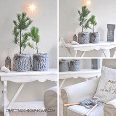 DIY mit Chunky wool. Ein neues Strickmäntelchen für die Weihnachtstanne